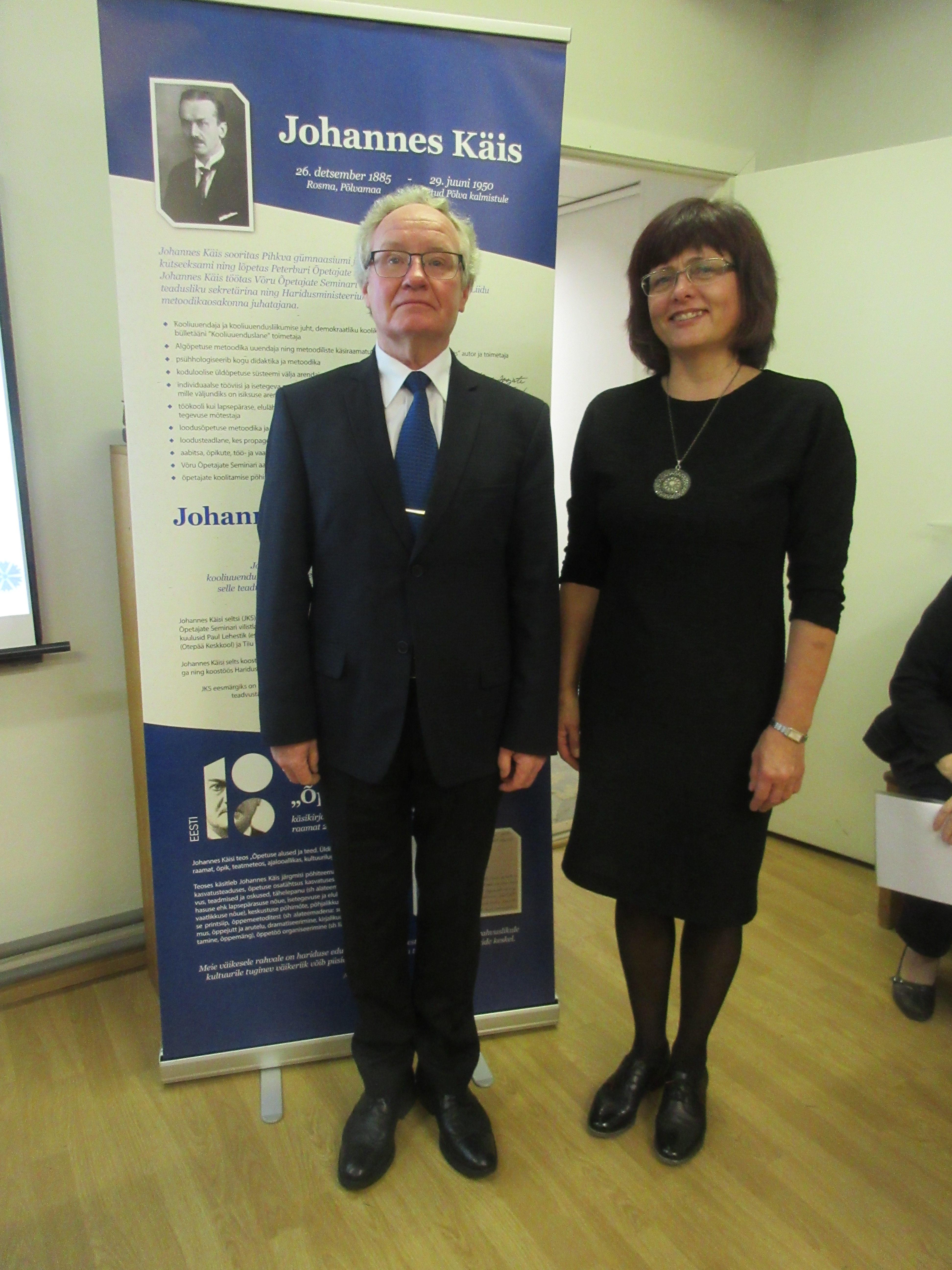 Sulev Valdmaa ja Kaia Tamm - Johannes Käisi nimelise preemia 2018 laureaadid